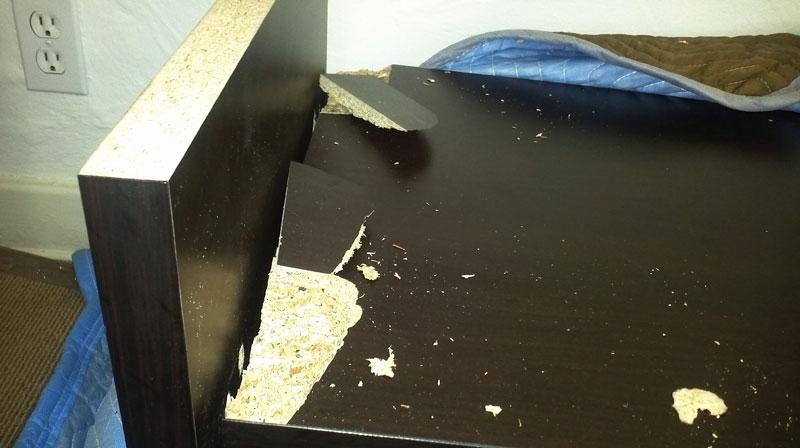 Broken TV Stand